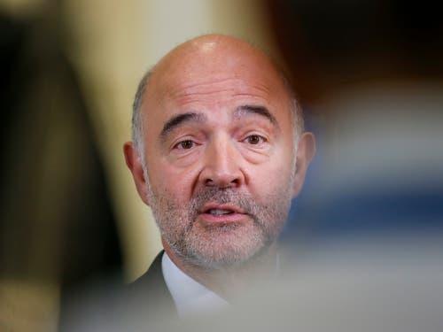 Der scheidende EU-Wirtschaftskommissar Pierre Moscovici hat am Donnerstag die EU-Liste zu den Steueroasen als einen «wichtigen europäischen Erfolg» bezeichnet. (Bild: KEYSTONE/EPA/JULIEN WARNAND)