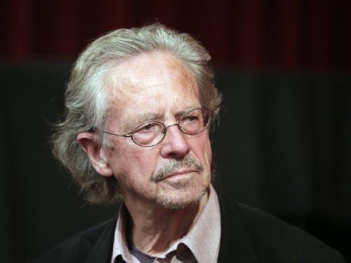 Der österreichische Schriftsteller Peter Handke wird mit dem Literaturnobelpreis für das Jahr 2019 geehrt. (Bild: Keystone/EPA APA/GEORG HOCHMUTH)