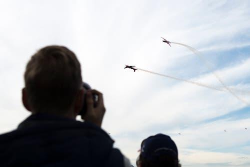 Die Flieger des PC-7-Teams sind ein beliebtes Fotosujet. (Bild: Dominik Wunderli, Luzern, 12. Oktober 2019)