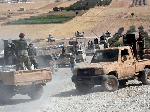 US-Soldaten sind an der türkisch-syrischen Grenze bei Kobane unter türkischen Beschuss geraten. (Bild: KEYSTONE/AP DHA)