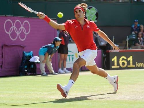 Olympia-Silber im Einzel und -Gold im Doppel hat Roger Federer bereits. Noch fehlt im aber der Olympiasieg im Einzel (Bild: KEYSTONE/JEAN-CHRISTOPHE BOTT)
