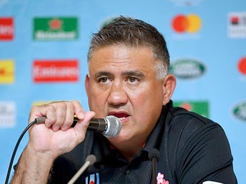 Coach Jamie Joseph war als Spieler sowohl in Neuseelands als auch in Japans Nationalmannschaft aktiv (Bild: KEYSTONE/AP Kyodo News/TSUYOSHI UEDA)