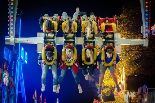 Spass und Fun an der Chilbi in Lozärn. (Bild: Roland Bucheli, Luzern, 14. Oktober 2019)