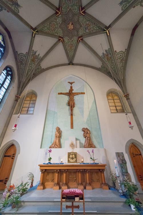 Altar der öffentlichen Kirche.