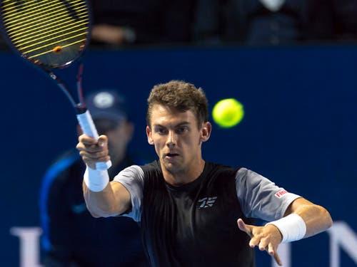 Henri Laaksonen trifft in der 1. Runde auf den Franzosen Benoît Paire (Bild: KEYSTONE/GEORGIOS KEFALAS)