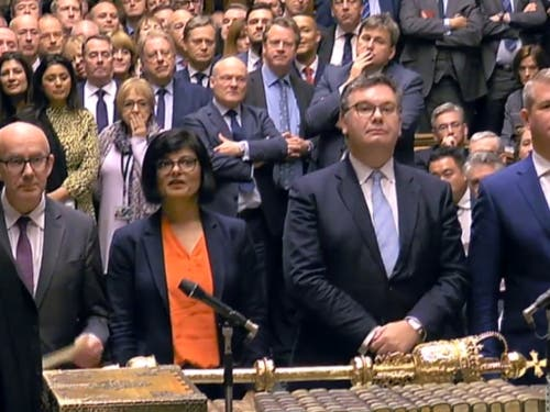 Das britische Parlament hat eine Entscheidung über den Brexit-Deal von Premierminister Boris Johnson verschoben. Damit hat es ihm eine empfindliche Niederlage zugefügt. (Bild: KEYSTONE/EPA UK PARLIAMENTARY RECORDING UNIT)