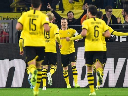 Alle Augen auf den Captain: Marco Reus führt Dortmund zum Sieg über Gladbach (Bild: KEYSTONE/AP/MARTIN MEISSNER)