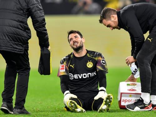 Die Verletzung von Roman Bürki ist der Wehmutstropfen für den BVB (Bild: KEYSTONE/AP/MARTIN MEISSNER)