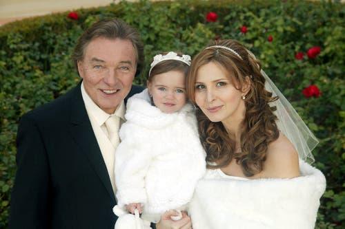 Karel Gott bei seiner Hochzeit 2008. (Bild: Keystone)
