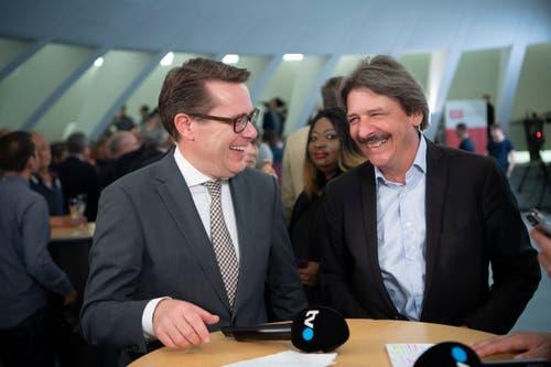 Beni Würth Paul Rechsteiner im Interview bei TVO. (Bild: Ralph Ribi)