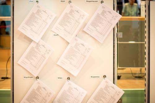 Die Resultate werden im Wahlzentrum in der Kanti Frauenfeld präsentiert. (Bild: Reto Martin)