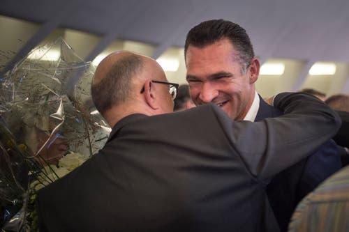 Marcel Dobler (FDP) schafft die Wiederwahl in den Nationalrat (Bild: Benjamin Manser)