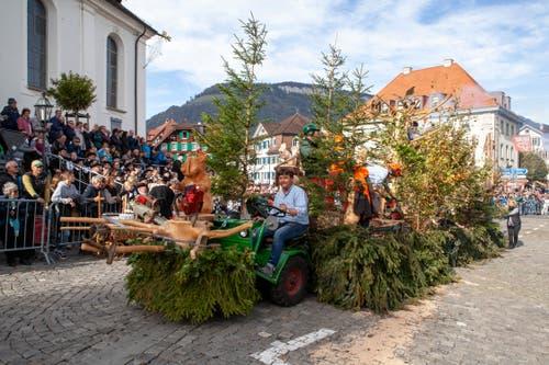 Die Freunde vom Stanserwald sind mit Forstarbeiten unterwegs. (Bild: Edi Ettlin, Stans, 20. Oktober 2019)