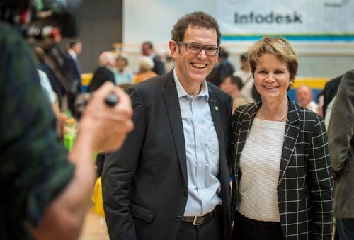 Sie vertreten den Thurgau in den kommenden vier Jahren im Ständerat: Jakob Stark und Brigitte Häberli. (Bild: Reto Martin)