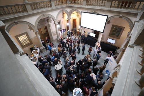Blick in das Luzerner Regierungsgebäude, das an diesem Sonntag auch der Bevölkerung offen steht. (Bild: Philipp Schmidli, Luzern, 20. Oktober 2019)