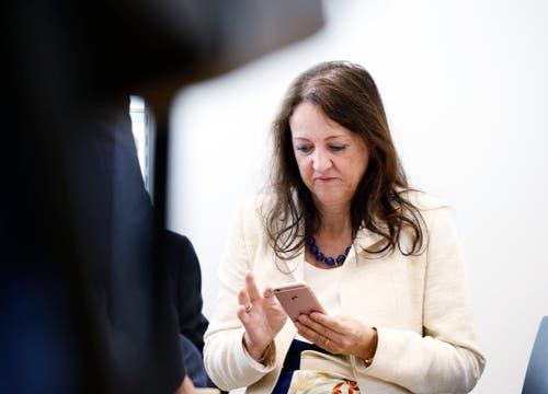 SP-Nationalratskandidatin Christina Bürgi Dellsperger. (Bild: Stefan Kaiser, Zug, 20. Oktober 2019)