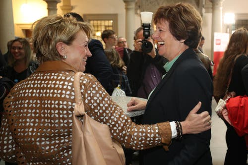 CVP-Nationalrätin Ida Glanzmann (rechts). (Bild: Philipp Schmidli, Luzern, 20. Oktober 2019)