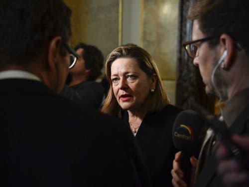 Die ehemalige Bundesratskandidatin und Urner CVP-Regierungsrätin Heidi Z'graggen hat im dritten Anlauf die Wahl in den Ständerat geschafft. (Bild: Keystone/ANTHONY ANEX)