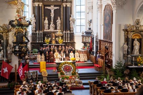 Der Festgottesdienst in der Stanser Pfarrkirche. (Bild: Edi Ettlin, Stans, 20. Oktober 2019)