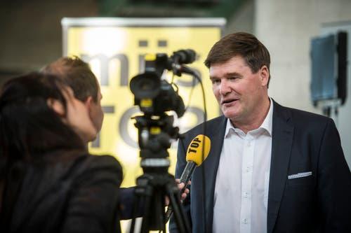 Für ihn sah es von Anfang an schlecht aus – und tatsächlich verlor er seinen Sitz: Hansjörg Brunner, abgewählter Nationalrat der FDP. (Bild: Reto Martin)
