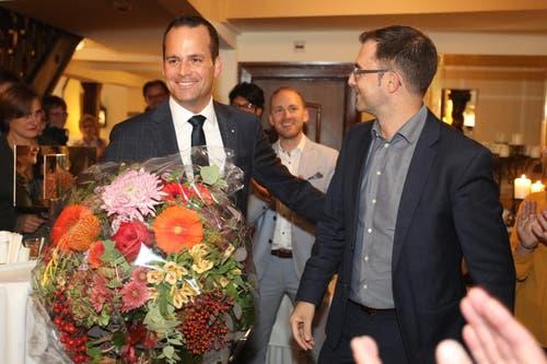 Damian Müller (FDP) wurde für das Amt des Ständerates bestätigt. (Bild: Philipp Schmidli, Luzern, 20. Oktober 2019)