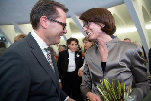 Beni Würth (CVP) und Susanne Vincenz-Stauffacher (FDP) (Bild: Ralph Ribi)