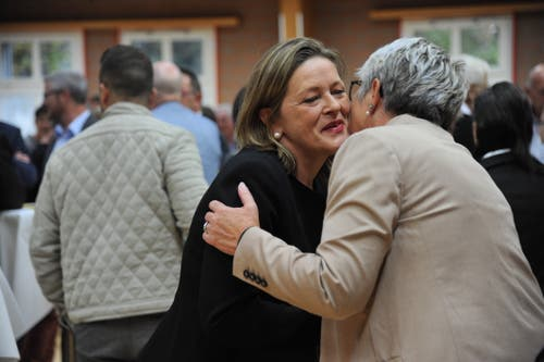 An der Wahlfeier der CVP Uri wurde die neue Ständerätin Heidi Z'graggen willkommen geheissen. (Bild: Urs Hanhart, 20. Oktober 2019)