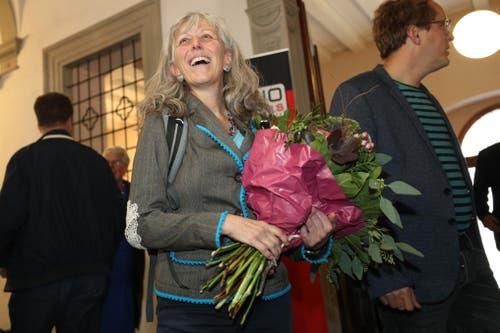 Die Grüne Ständeratskandidatin Monique Frey im Regierungsgebäude. (Bild: Philipp Schmidli, Luzern, 20. Oktober 2019)