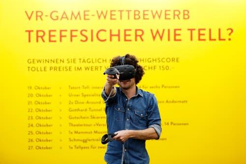 Und wer sich in der virtuellen Welt gut zurechtfindet, kann auch an einem Wettbewerb teilnehmen. (Bild: Stefan Kaiser, Zug, 19. Oktober 2019)