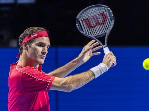 Wie aus einem Guss: Bei Roger Federer klappten alle Facetten seines Spiels (Bild: KEYSTONE/GEORGIOS KEFALAS)