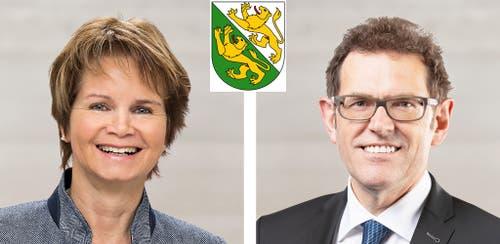 ThurgauBrigitte Häberli-Koller (CVP, 43'434 Stimmen)Jakob Stark (SVP, 37'913 Stimmen)