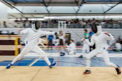 Fechtturnier Challenge Marcus Leyrer in der Maihofhalle in Luzern. (Bild: Pius Amrein, 19. Oktober 2019)