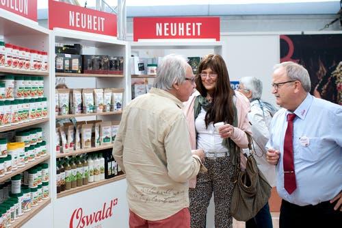 Ob Konfitüre, Küchen, Betten oder Bäder: Über 400 Aussteller zeigen hier ihre Produkte und Dienstleistungen. (Bild: Maria Schmid, Zug, 25. Oktober 2019)