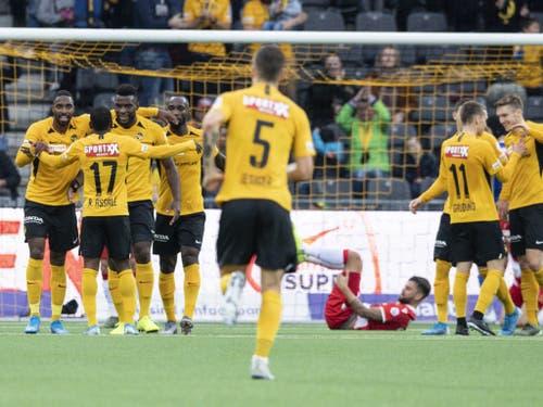 Die Young Boys nutzten den FCZ-Sieg gegen Basel zur Tabellenführung (Bild: KEYSTONE/PETER SCHNEIDER)