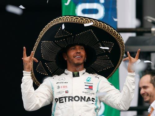 Lewis Hamilton feierte in Mexiko City seinen zehnten Sieg in dieser Saison, den 83. insgesamt (Bild: KEYSTONE/AP/REBECCA BLACKWELL)