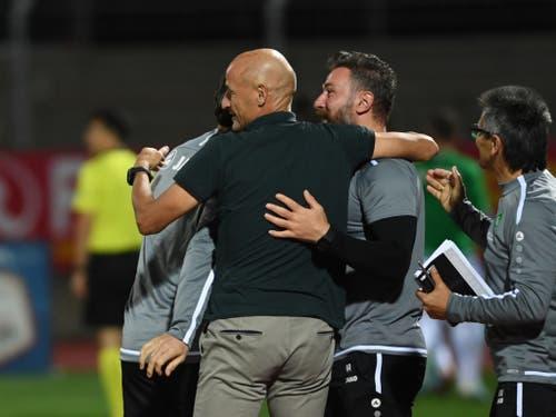 Weiter auf Erfolgskurs bleibt Peter Zeidler mit dem FC St. Gallen (Bild: KEYSTONE/Ti-Press/ALESSANDRO CRINARI)