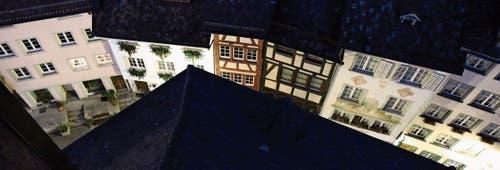 Die Wiler Altstadt ist ein sensibler Ort, wo die unterschiedlichsten Interessen aufeinanderprallen können. Dies bedarf eines guten Dialogs mit allen Beteiligten. (Bild: Hans Suter)