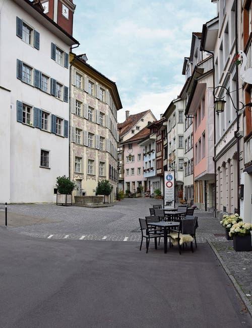 Ab Frühling 2020 sollen Besucher des «Storchen» auf der anderen Strassenseite sitzen. (Bild: Lara Wüest)
