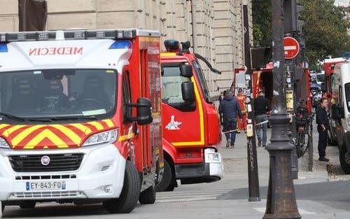 Über zehn Feuerwehrfahrzeuge waren anwesend. (Bild: Le Parisien)