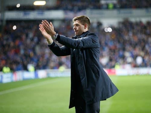Steven Gerrards neue Rolle an der Seitenlinie der Glasgw Rangers (Bild: KEYSTONE/EPA/ROBERT PERRY)