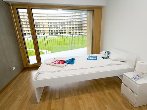 Die Zimmer sollen nach den Jugendspielen als Studentenunterkünfte umgenutzt werden. (Bild: KEYSTONE/LAURENT GILLIERON)