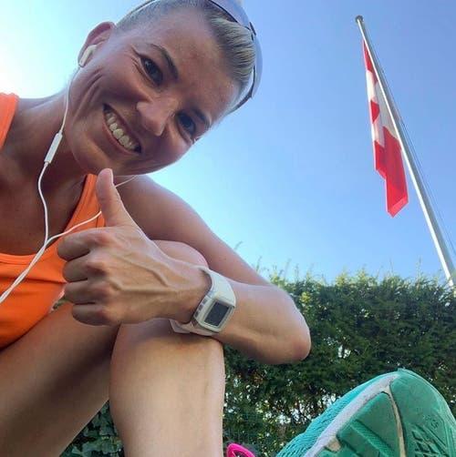 Diana Gutjahr (SVP) ist sportlich unterwegs, um ihren Geist fit und agil zu halten – hier am #cityrun. Bild: Instagram / Diana Gutjahr