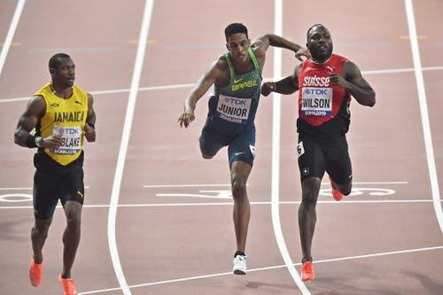 Über 200 Meter läuft es dem Basler besser, er qualifiziert sich für den Halbfinal. Dort muss er dann allerdings verletzungsbedingt passen. (Bild: Keystone)