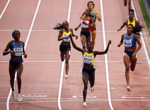 Eine riesige Sensation: Halimah Nakaayi gewinnt über 800 Meter Gold für Uganda: (Bild: Keystone)