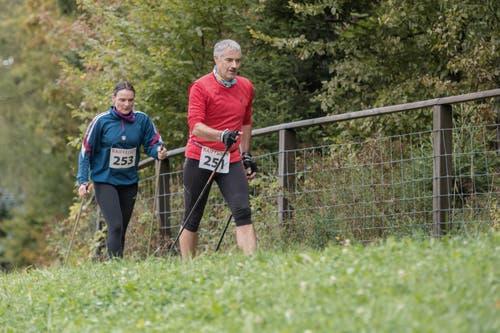 Ursula Felder aus Flühli und Albert Lingg aus Gipf-Oberfrick. (Bild: Pius Amrein, 6. Oktober 2019)