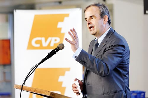 Rang4: CVP-Chef Gerhard Pfister. (Bild: Keystone)