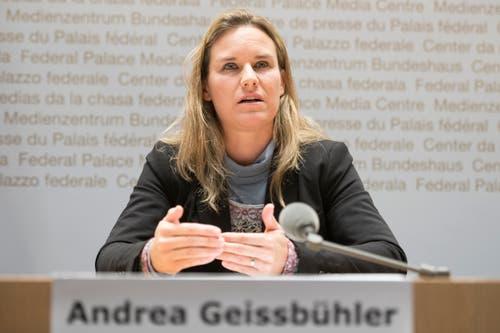 Rang 1 auf der Liste der Pflichtbewussten: SVP-Nationalrätin Andrea Geissbühler. (Bild: Keystone)