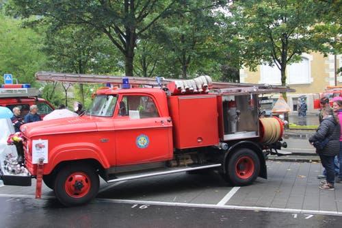 Das erste Tanklöschfahrzeug der Feuerwehr Erstfeld: ein Dodge Mowag W 300 4x4 aus dem Jahr 1970. (Bild: Paul Gwerder, Erstfeld, 5. Oktober 2019)