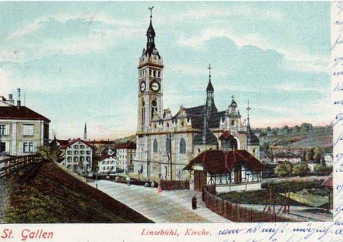 ...Kirche Linsebühl in St.Gallen wurde nach über 30 Jahren... (Archivbild 1898)