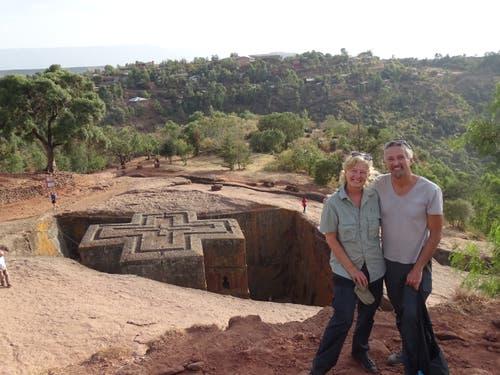 Lalibela im nördlichen Äthiopien ist das Zentrum der Felsenkirchen. Als Schutz vor islamischen Angreifern wurden die Kirchen unterirdisch angelegt. (Bild: Walter Odermatt)